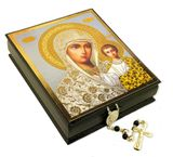 Virgin of Kazan, Decoupage Wooden Icon Box