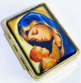 Pill Box with Icon of Virgin Mary and Child Jesus
