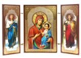 Virgin Mary Iverskaya  / Archangels Michael and Gabriel, Mini Triptych
