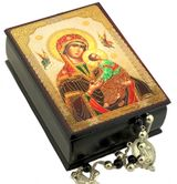 Virgin Mary of Passions, Keepsake Rosary Icon Box