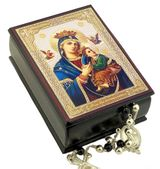 Virgin Mary Perpetual Help, Keepsake Rosary Icon Box