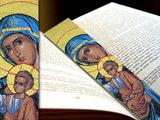 Virgin Mary, Tapestry  Icon  Book Marker