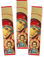 Virgin Mary and Christ, Set of 3 Tapestry Icon Book Markers