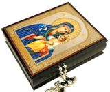 Virgin Mary the Eternal Bloom, Decoupage Icon Box