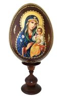 Virgin Mary The Eternal Bloom, Wooden Icon Egg