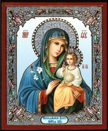 Virgin Mary the Eternal Bloom, Orthodox Christian Mini Icon