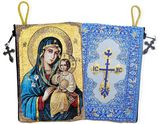 Virgin Mary the Eternal Bloom, Rosary Icon Pouch