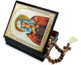 Virgin Mary the Extreme Humility,  Decoupage Keepsake Wooden Box