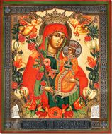 Virgin Mary The Fragrant Flower (Unfading Blossom), Orthodox Icon