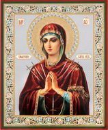"Virgin Mary ""The Softener of Evil Hearts"",  Orthodox Mini Icon"