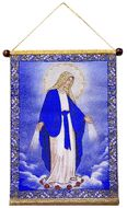 Our Lady of Grace, Hanging Tapestry Icon Banner