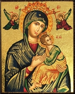 Virgin of Passion (In Green), Mini Magnetic Serigraph Icon