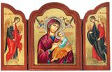 Virgin of Passion - Lady of Perpetual Help (In Red), Serigraph Triptych