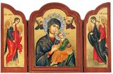Virgin of Passion - Lady of Perpetual Help (In Blue), Serigraph  Triptych