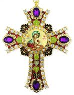 Virgin of Passions - Lady of Perpetual Help  Icon in  Jeweled Wall Cross