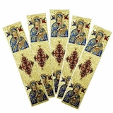"Set of 5  Tapestry  Icon  Book Markers  ""Virgin Mary of Passions"""