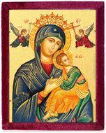 Our Lady of Perpetual Help, Orthodox Icon in Velvet Case