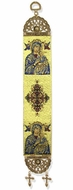 "Virgin of Perpetual Help, Textile Art  Tapestry Icon Banner, 13"" H"