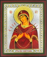 Virgin Mary of Sorrows - Seven Arrows, Orthodox Mini Icon