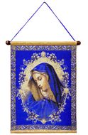 Virgin Mary of Sorrows, Hanging Tapestry Icon Banner