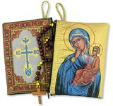 Virgin of Tenderness Rosary Icon Pouch Case