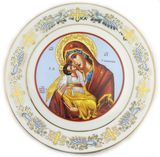 Virgin of Valdimir, Ceramic Hanging Icon Plate