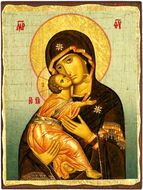 Virgin of Vladimir, Orthodox Christian Serigraph Icon