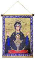 """Virgin Mary """"The Inexhaustible Cup"""", Hanging Tapestry Icon Banner"""