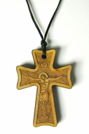 Wooden Cross with Rope, 1 3/4""
