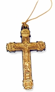Wooden Cross With Rope From Greece, 2 1/8""