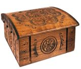 Hand Carved Wooden Box From Ukraine, Rosary Keepsake Holder