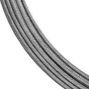 1x19 1/8in stainless steel cable for cable railing