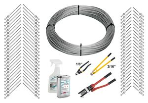 stainless cable railing kit with tools