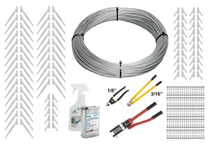 stainless surface mount cable railing kit with tools
