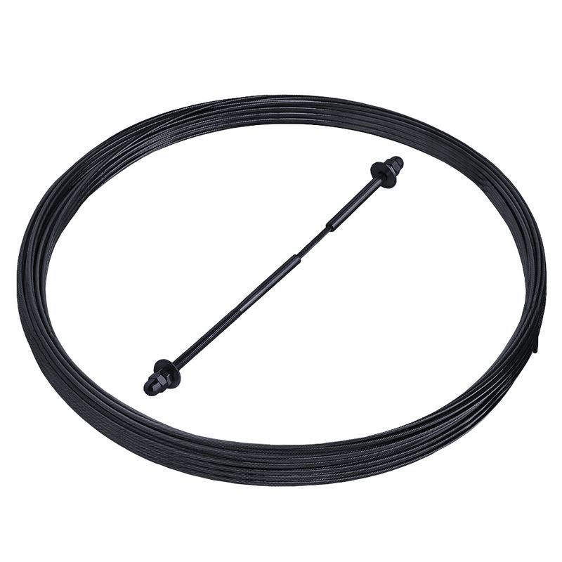Black Cable Railing Kit - 30ft Cable & Fittings