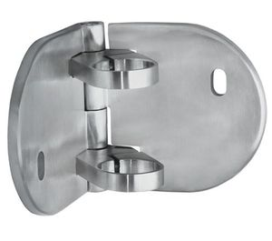 Adjustable fascia bracket for round cable railing posts