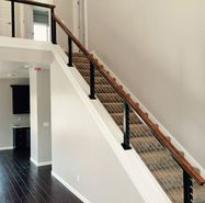 Black Aluminum Cable Railing - Fortuna, CA