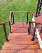 Black Aluminum Cable Railing - Woodbury, MN