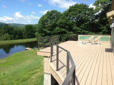 Bronze Aluminum Cable Railing - Meredith, NY