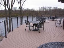 Bronze Aluminum Cable Railing - South Bend, IN