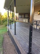 Black Aluminum Cable Railing - Albany, OR