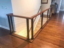 Black Aluminum Cable Railing - Aurora, IL