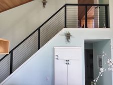 Black Aluminum Cable Railing - Depoe Bay, OR