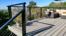 Black Aluminum Cable Railing - Escondido, CA
