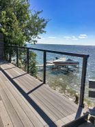 Black Aluminum Cable Railing - Fishing Lake, SK, CA