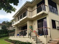 Balau & Square Stainless Steel Cable Railing - Honolulu, HI