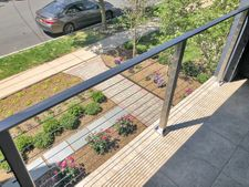 Square Stainless Steel Cable Railing - Montclair, NJ