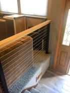 Cedar & Black Aluminum Cable Railing - Pittsburgh, PA