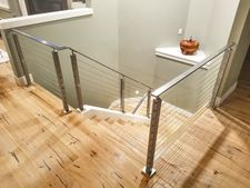 Square Stainless Cable Railing - Portland, OR