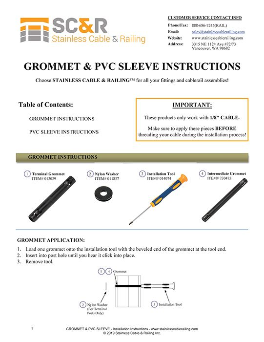 Installation Instructions for Post Hole Grommets